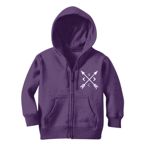 Youth White Compass Zip Hoodie - Stay Coastal