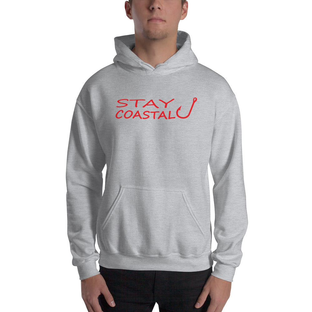Men's Red Fish Hook Hoodie