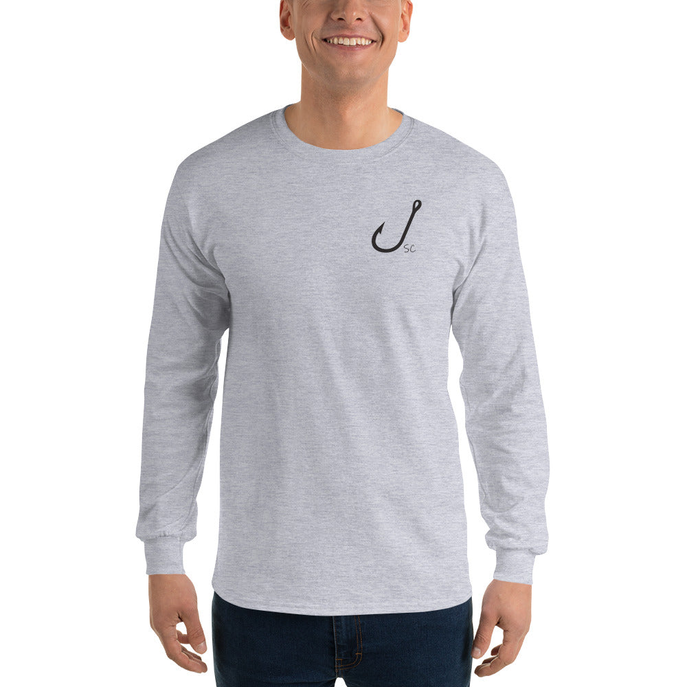 Men's HOOKED Long Sleeve T-Shirt - Stay Coastal