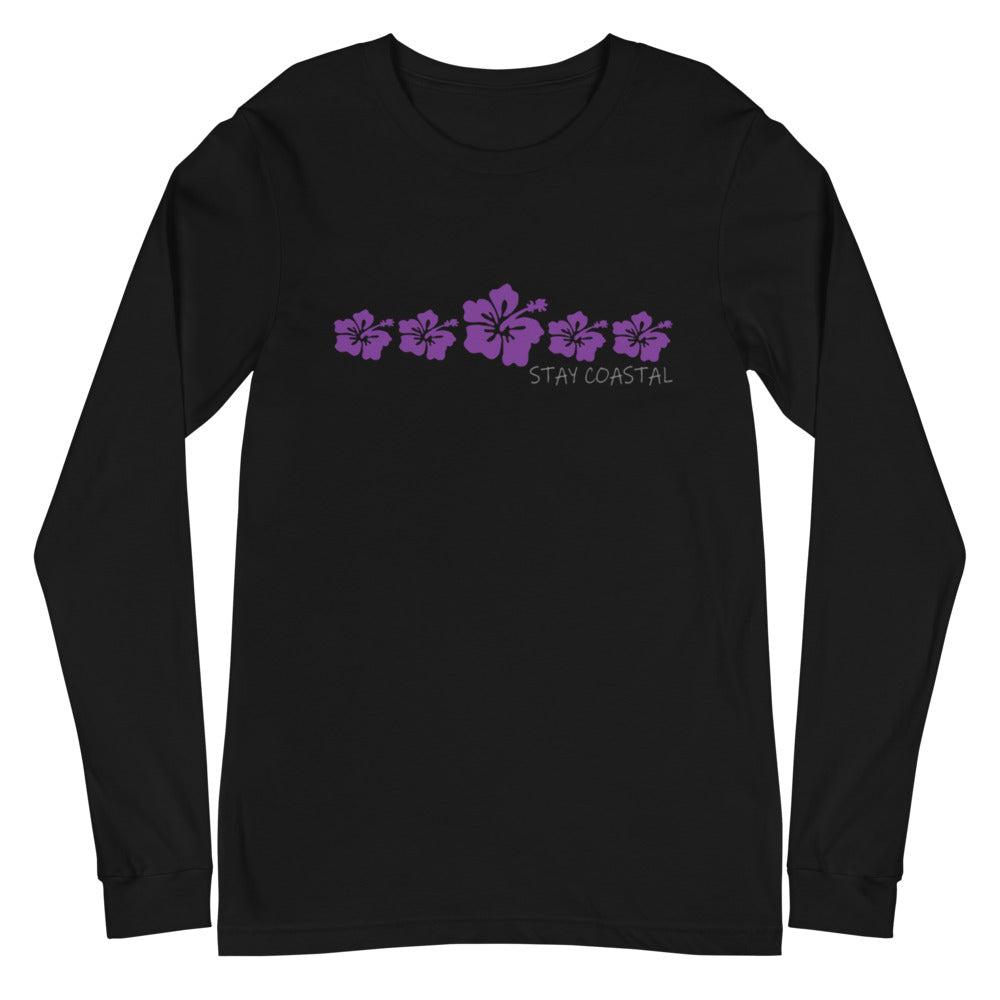Women's Hibiscus Long Sleeve Tee - Stay Coastal