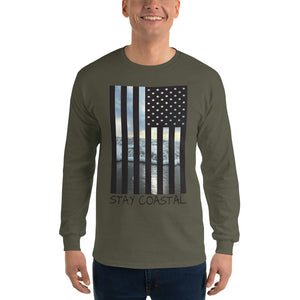 Men's American Flag Long Sleeve - Stay Coastal