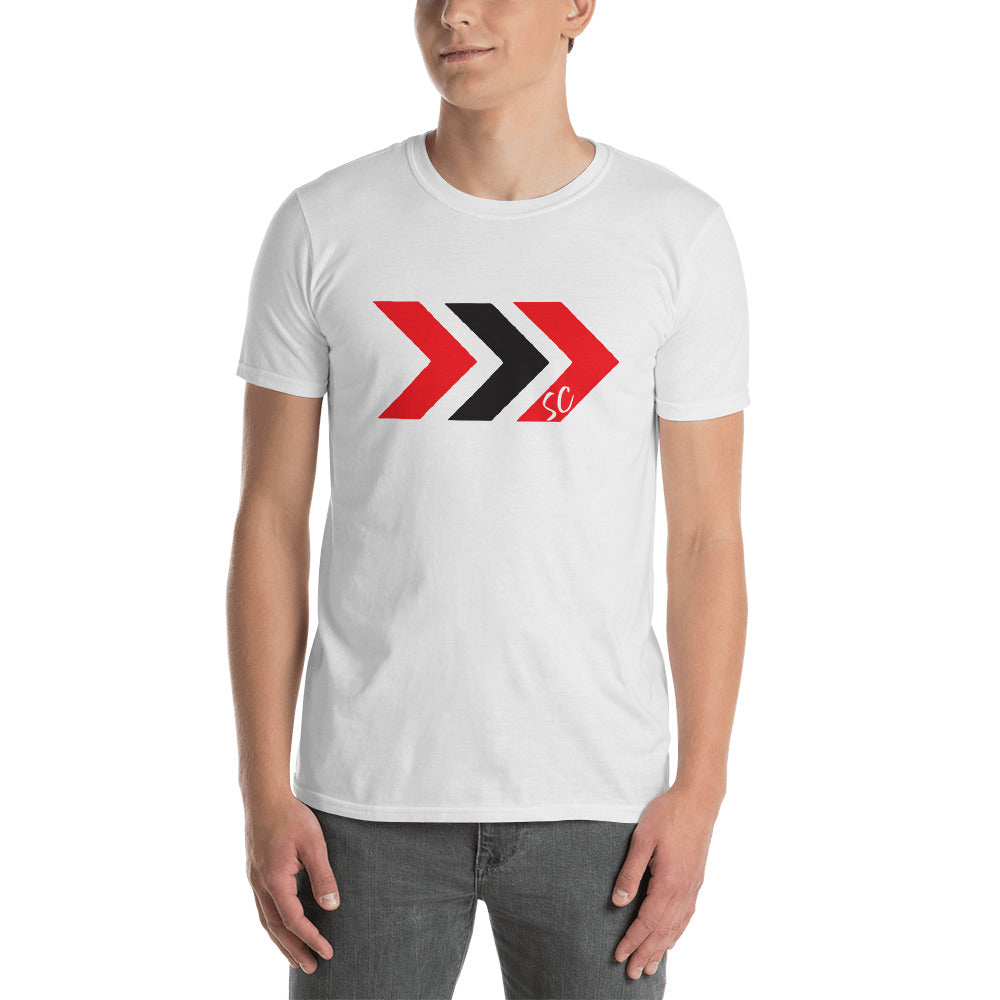 Men's Black and Red Arrow Tee - Stay Coastal