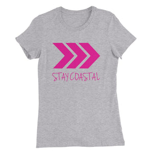 Women's Pink Arrows Slim Fit Tee - Stay Coastal