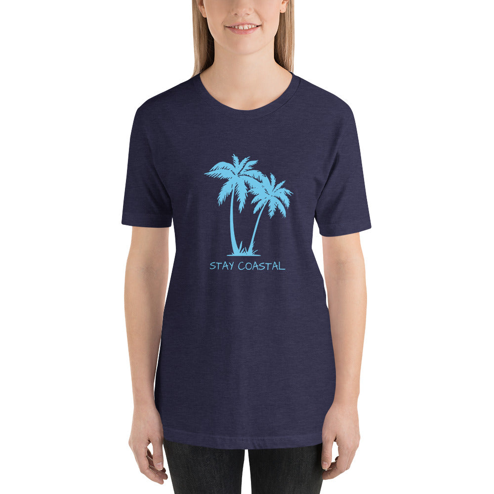 Women's Blue Palms Tee - Stay Coastal