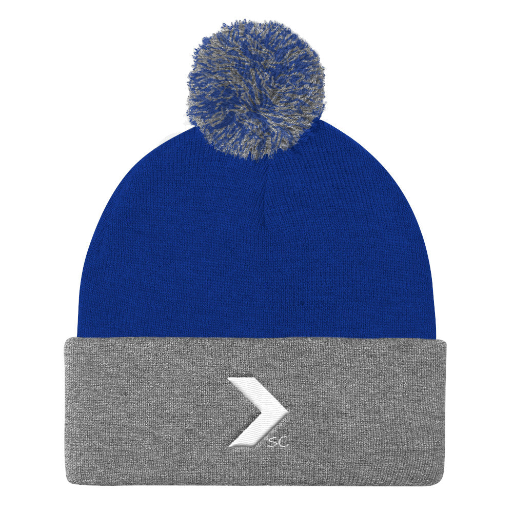 Logo Pom Pom Knit Beanie - Stay Coastal
