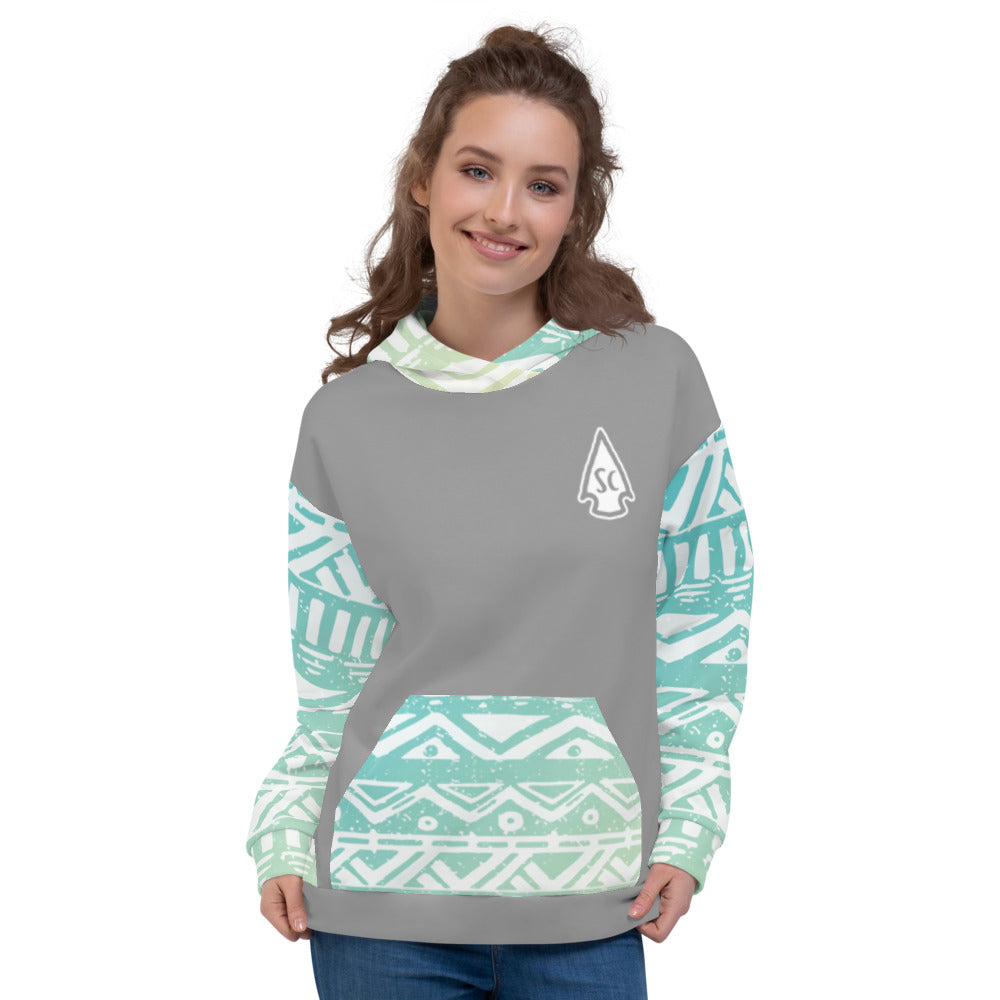 Women's Aztec Arrowhead Hoodie - Stay Coastal