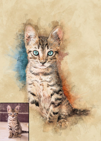 Custom Digital Pet Portrait From Your Own Photos!
