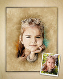 Custom Digital Child Portrait From Your Own Photos!