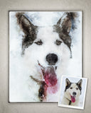 Custom Pet Portrait Digital Painting-Watercolor and Pastel From Your Own Photos!