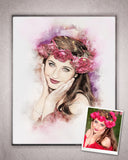 Custom Portrait Digital Painting-Watercolor and Pastel From Your Own Photos!