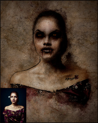 Custom VAMPIRE Portrait...from your own photos!