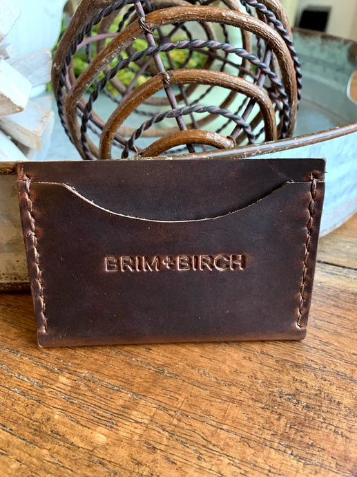 No. 8 | The Tightwad handmade leather wallet - Brim + Birch