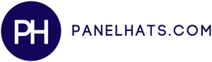 The logo for a 5 panel hat website, panelhats.com