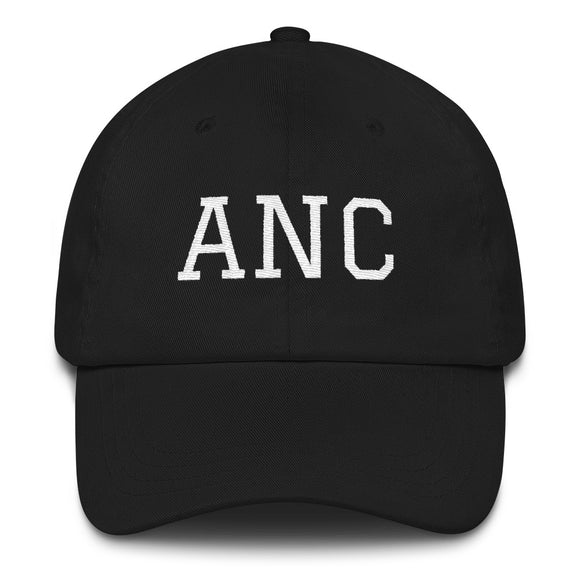 Anchorage ANC Airport Code Hat - Black