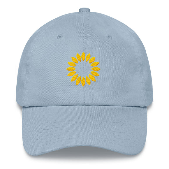 Kansas Sunflower Hat - Light Blue