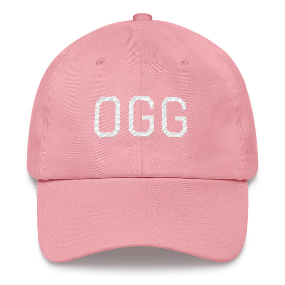 Kahului OGG Airport Code Maui Hat - Pink