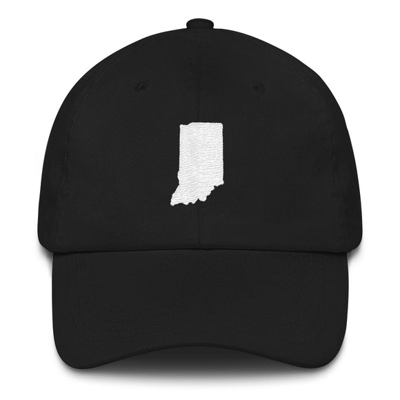 State of Indiana Outline Hat - Black