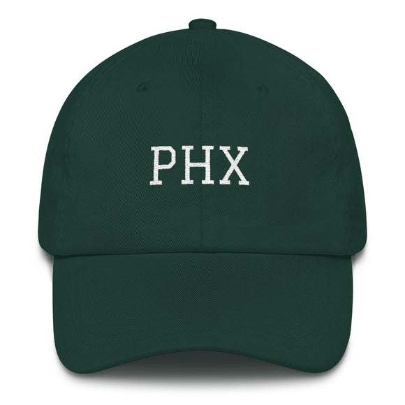 Phoenix PHX Airport Code Hat - Green