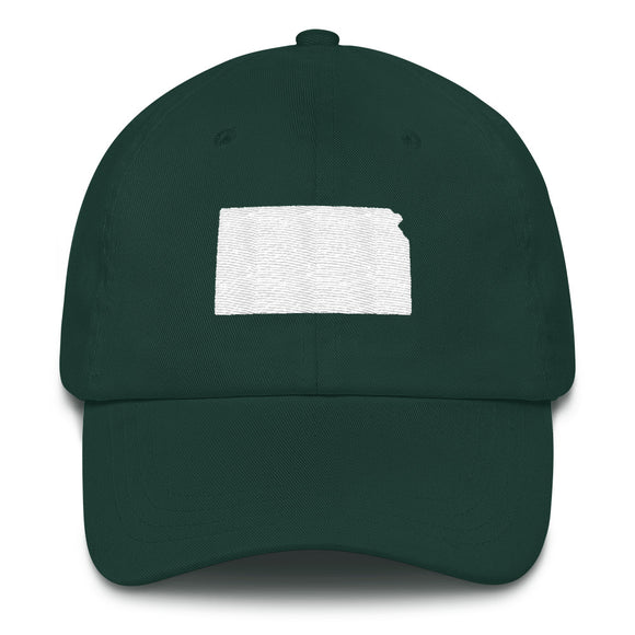 State of Kansas Outline Hat - Green