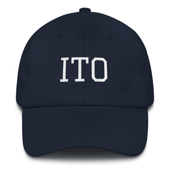 Hilo ITO Airport Code Hat - Navy