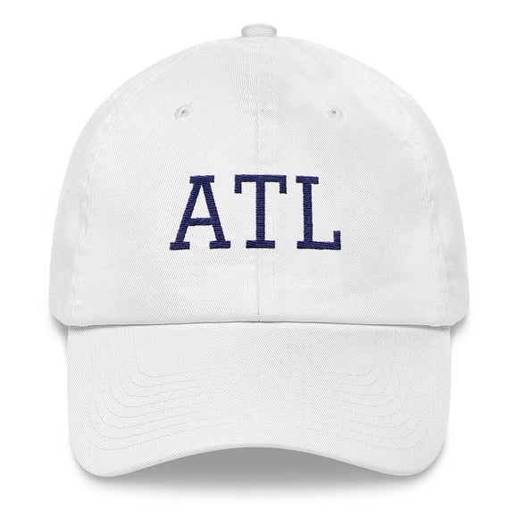 Atlanta ATL Airport Code Hat - White