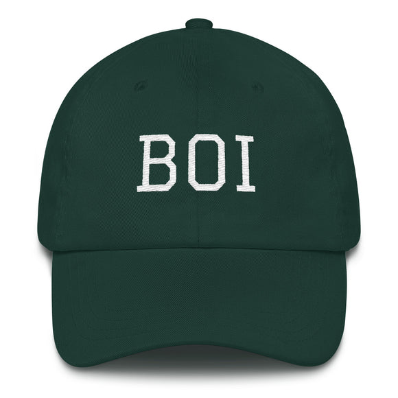 Boise BOI Airport Code Hat - Green