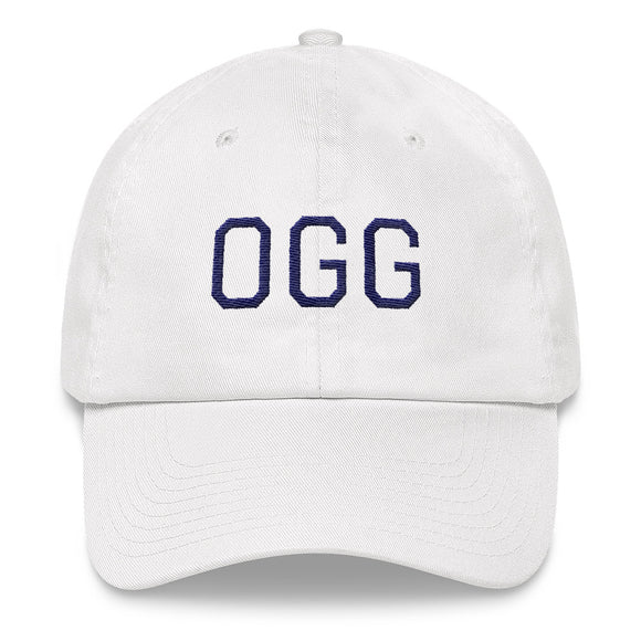 Kahului OGG Airport Code Maui Hat - White