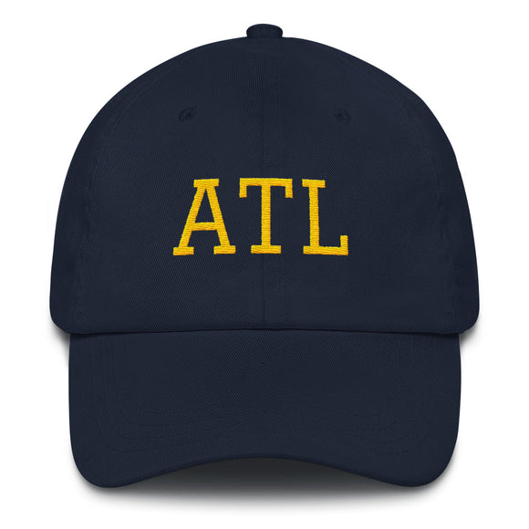 Atlanta ATL Airport Code Hat - Navy