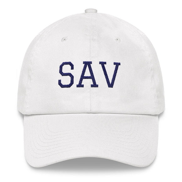 Savannah SAV Airport Code Hat - White