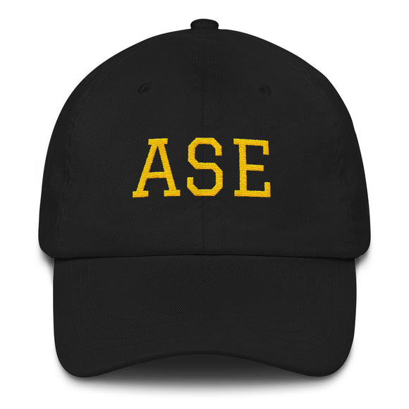 Aspen ASE Airport Code Dad Hat - Black