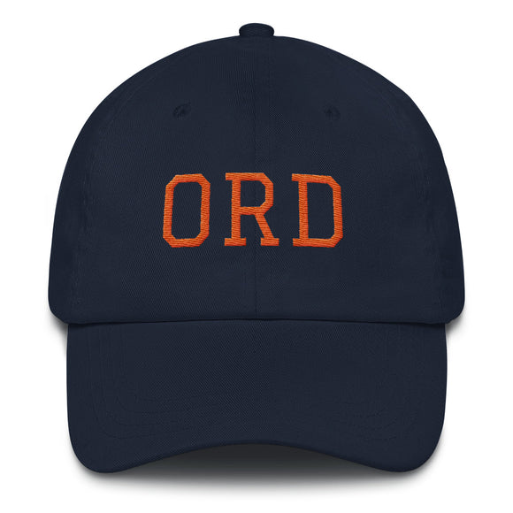 Chicago ORD Airport Code Hat - Navy