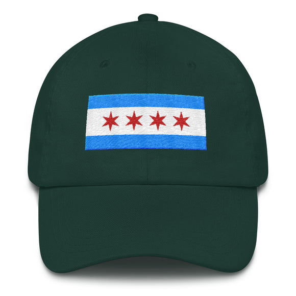 Chicago Flat Hat - Green