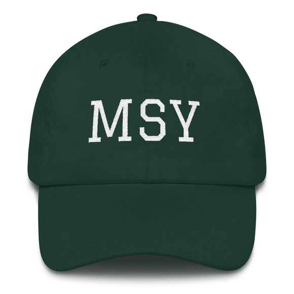 New Orleans MSY Airport Code Hat - Green
