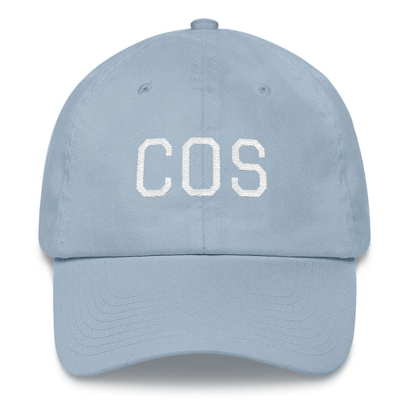 Colorado Springs COS Airport Code Hat - Light Blue