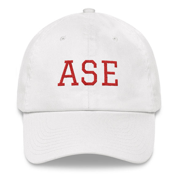 Aspen ASE Airport Code Dad Hat - White
