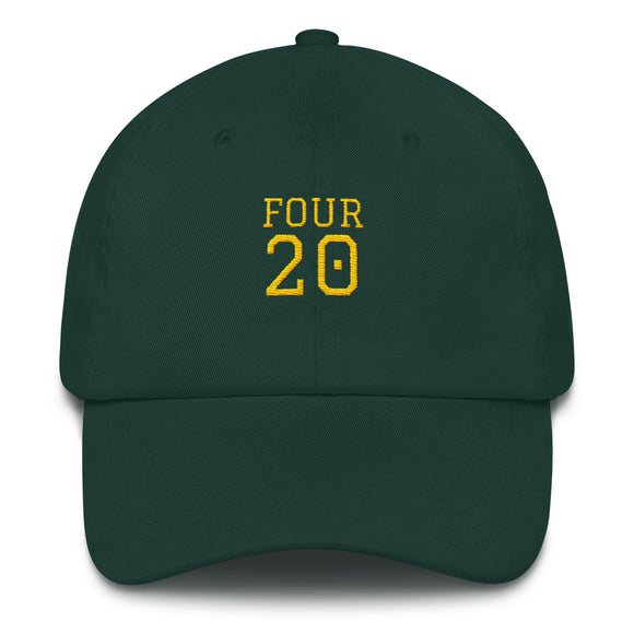 Four 20 Dad Hat - Green