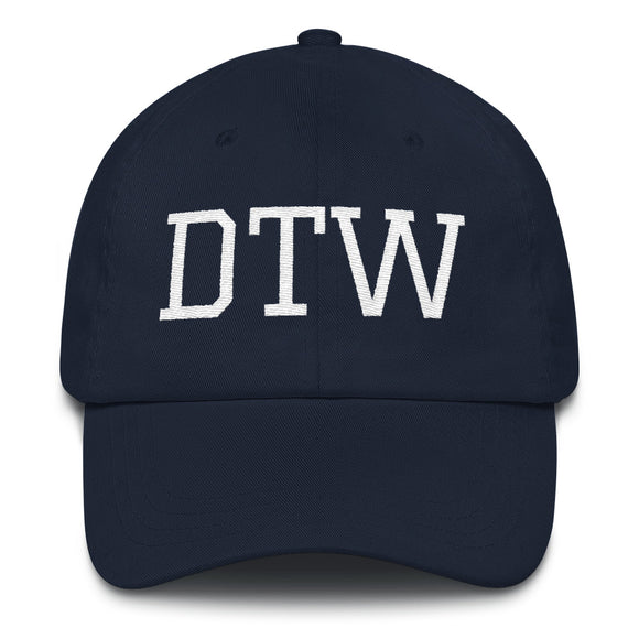Detroit DTW Airport Code Hat - Navy