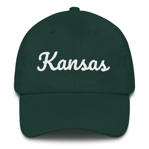 Cursive Kansas Hat - Green