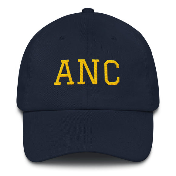 Anchorage ANC Airport Code Hat - Navy w/ Yellow