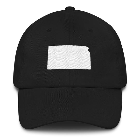 State of Kansas Outline Hat - Black