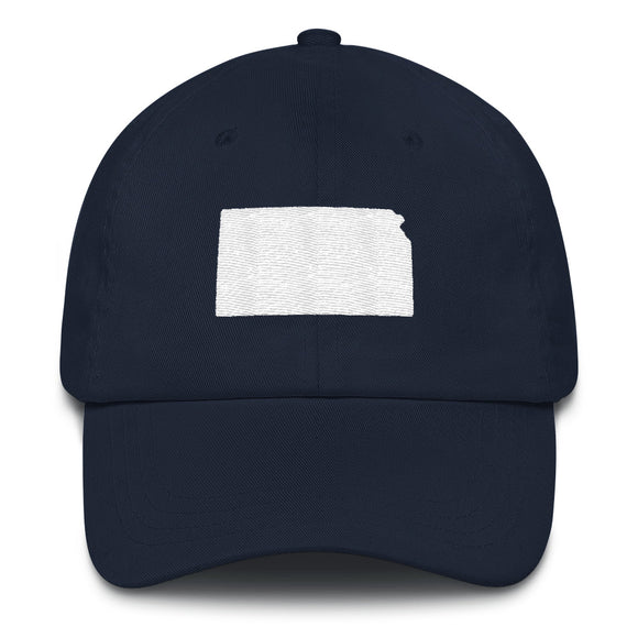 State of Kansas Outline Hat - Navy