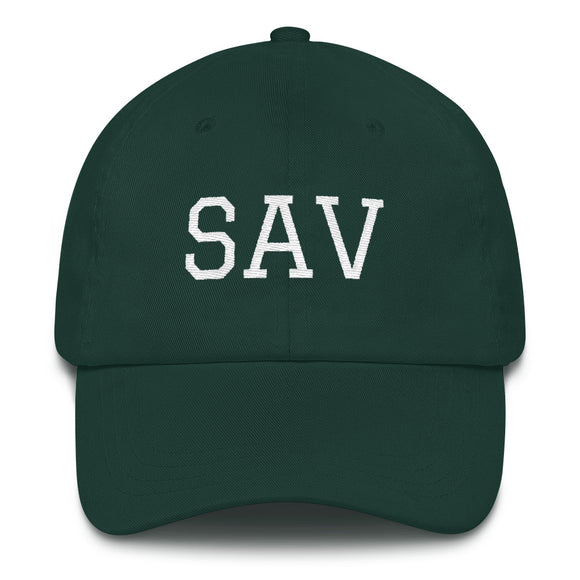 Savannah SAV Airport Code Hat - Green
