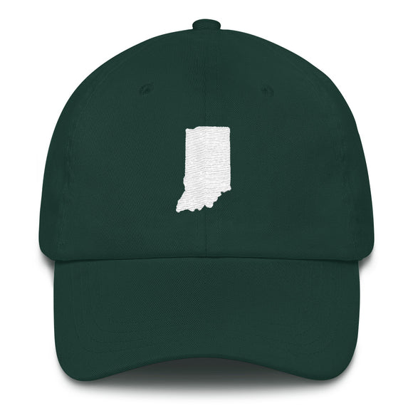 State of Indiana Outline Hat - Green
