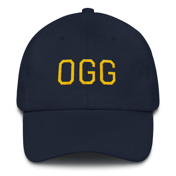 Kahului OGG Airport Code Maui Hat - Navy