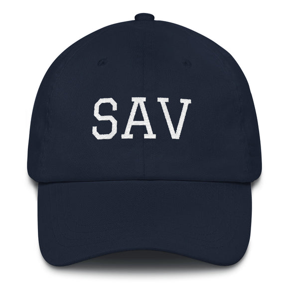 Savannah SAV Airport Code Hat - Navy