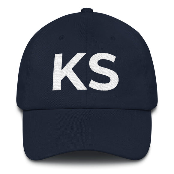 Kansas KS Hat - Navy