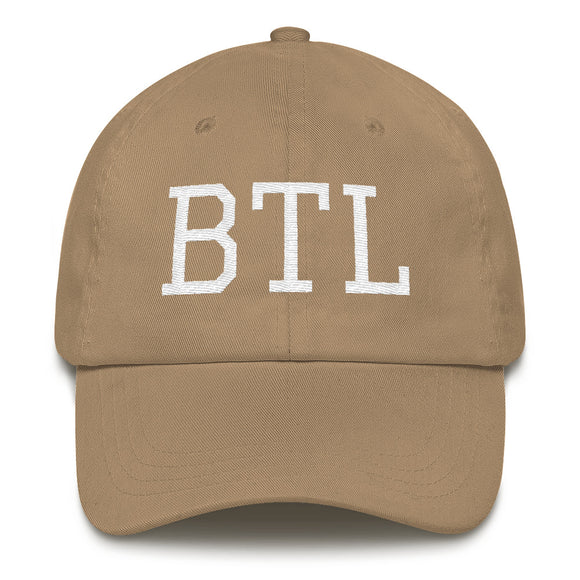 Battlecreek BTL Airport Code Hat - Khaki