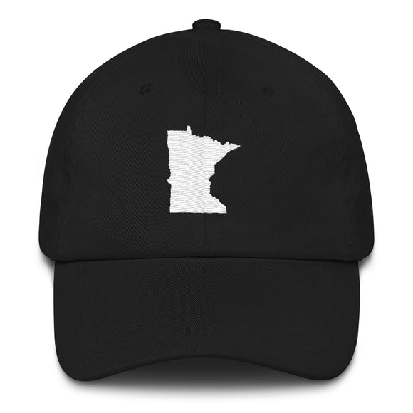 Minnesota Outline Hat - Black