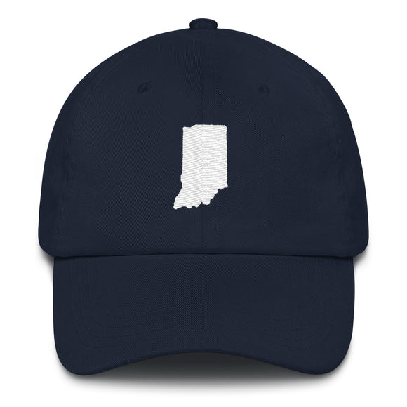 State of Indiana Outline Hat - Navy