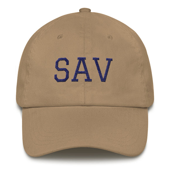 Savannah SAV Airport Code Hat - Khaki